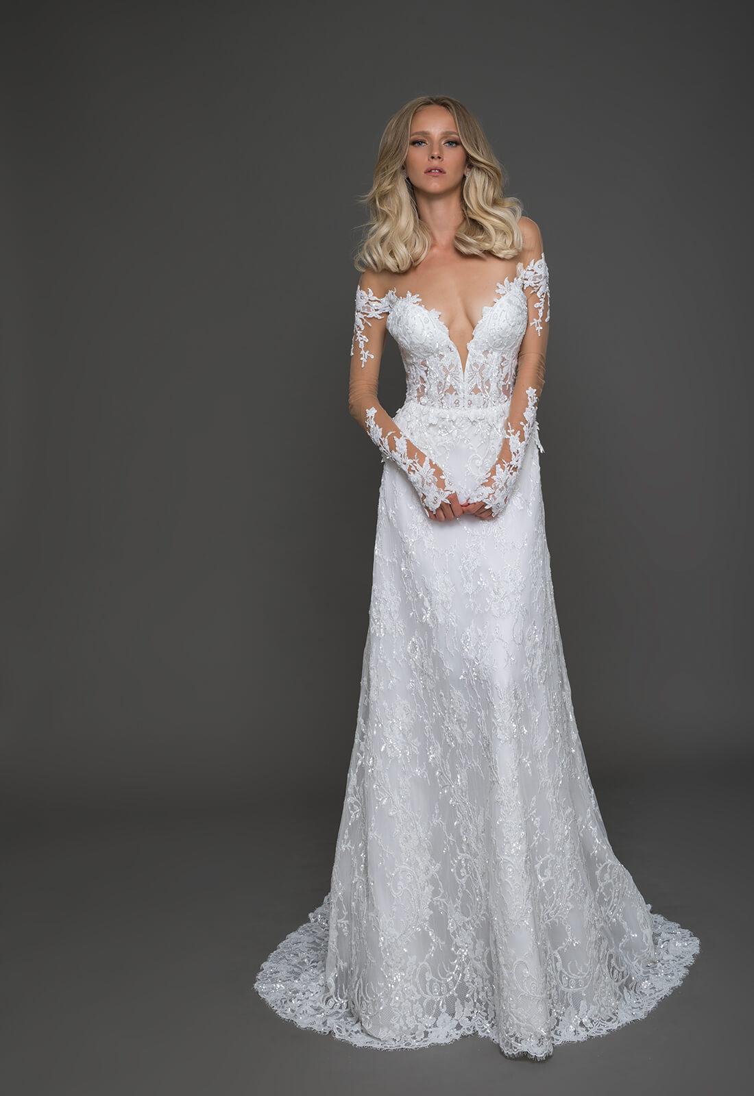 Pnina tornai for Chic and curvy wedding dress