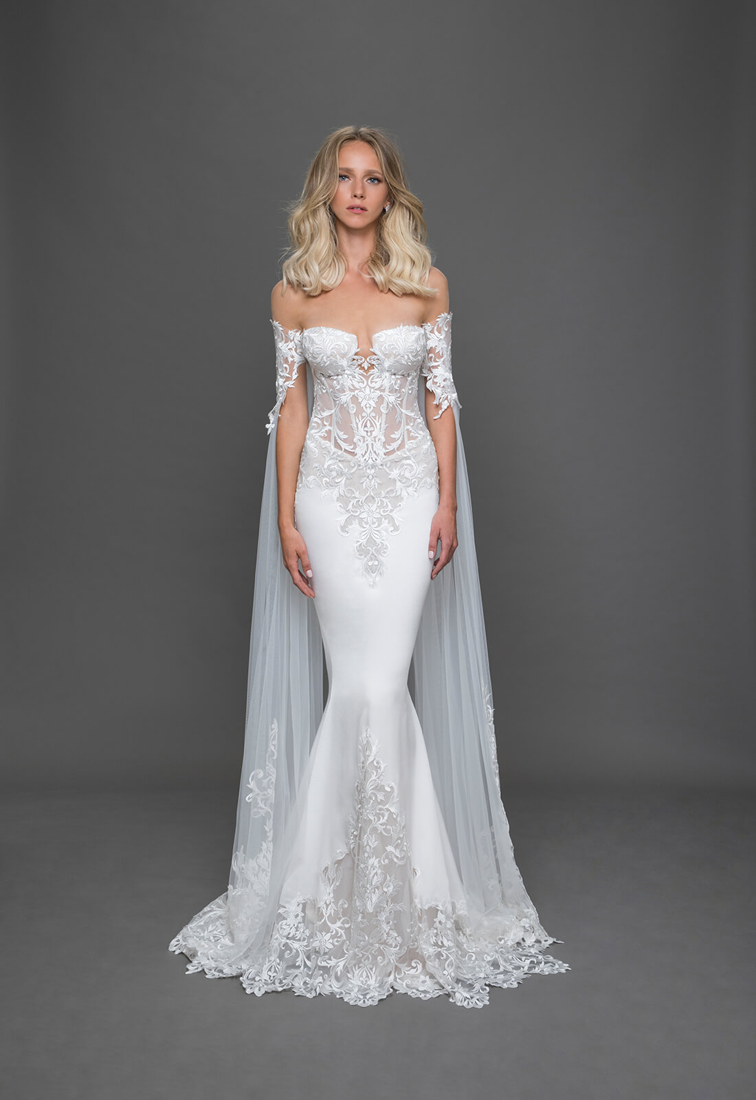 Pnina tornai for Kleinfeld mermaid wedding dresses